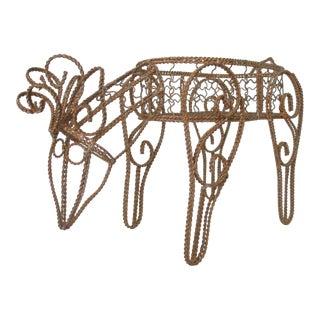 Wire Reindeer Basket For Sale