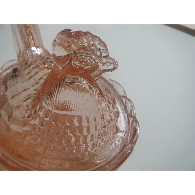 Westmoreland Vintage Pink Glass Hen on Nest Dish - Image 6 of 6