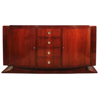 1930´s Art Deco Sideboard, mahogany, bronze - France For Sale