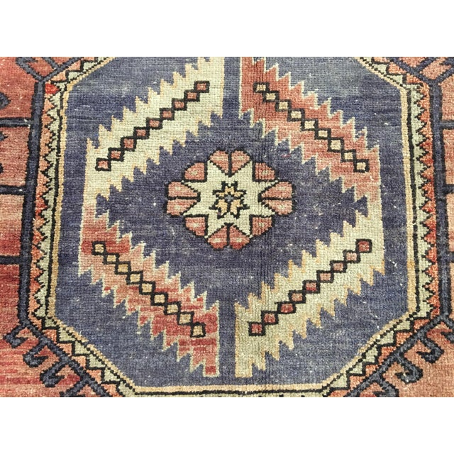 "Vintage Turkish Oushak Runner - 4'4""x9'11"" - Image 6 of 10"