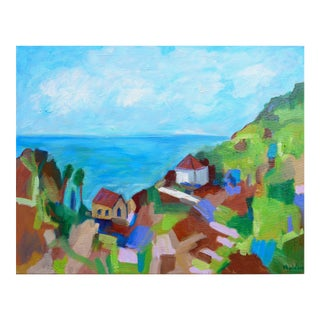 Impressonist Painting, Normandie, France Seascape For Sale