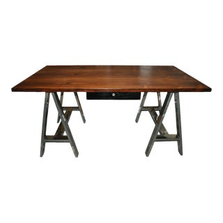 Danish Mid Century Modern Rosewood & Chrome Writing Office Desk For Sale