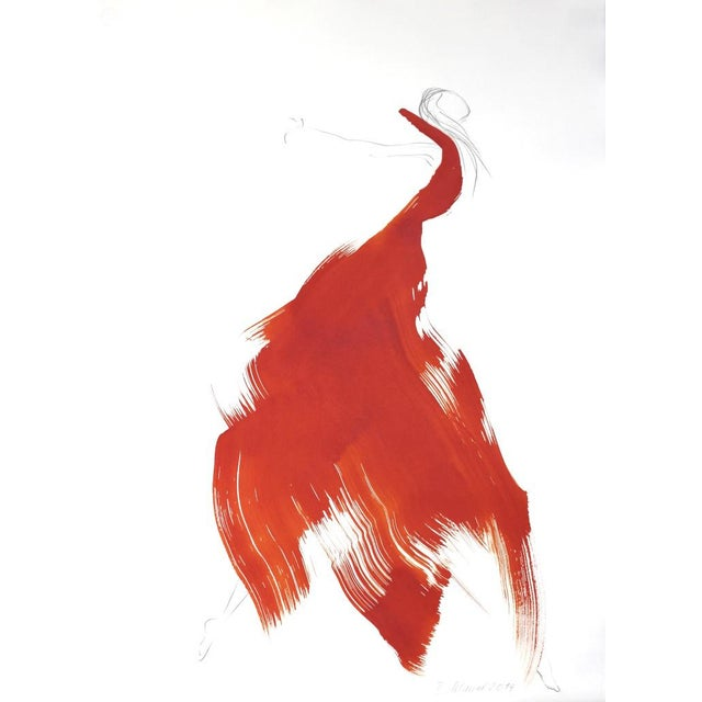 """Battina Mauel Abstract Painting """"The Red Cloth 26"""" - Image 3 of 3"""
