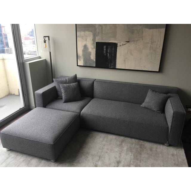 Florence Knoll Knoll Barber Osgerby Asymmetric Sectional With Chaise For Sale - Image 4 of 4
