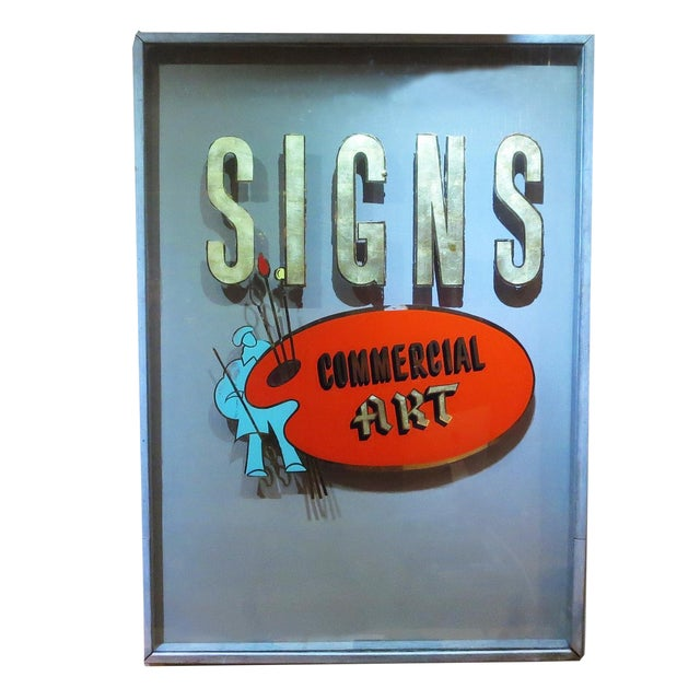 Folk Art Gilded Window From Sign Painters Storefront For Sale