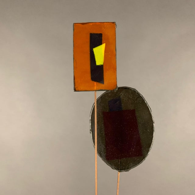 """1950s C. Jere Fused Glass & Metal Kinetic 53"""" Sculpture For Sale In New York - Image 6 of 11"""