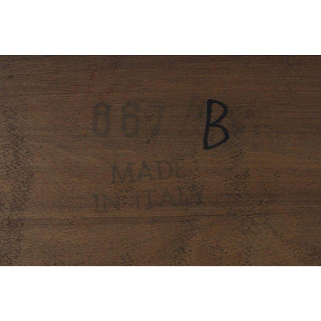 Italian Parquet Marquetry Burl Walnut Top Parsons Desk Writing Table Two Drawers For Sale In New York - Image 6 of 10