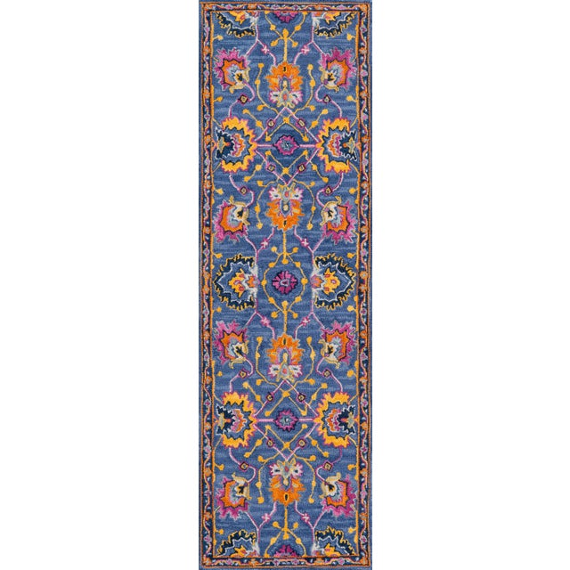 2010s Ibiza Blue Hand Tufted Area Rug 6' X 9' For Sale - Image 5 of 8