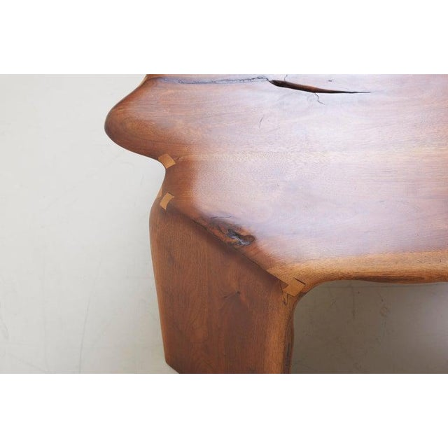 One of a Kind James Monroe Camp Studio Coffee Table in Walnut, Usa, 1975 For Sale - Image 11 of 12