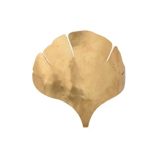 Wildwood Ginkgo Gold Sconce For Sale