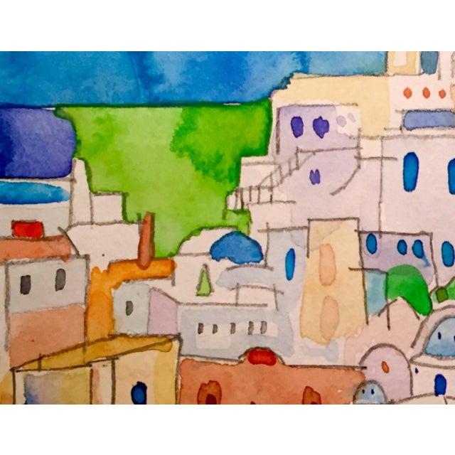 Original Watercolor of Mykonos - Image 2 of 2