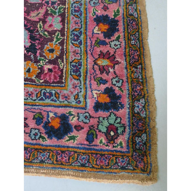 "1920s Handwoven Kerman Rug 13' 2"" X 10' 4"" For Sale - Image 11 of 13"