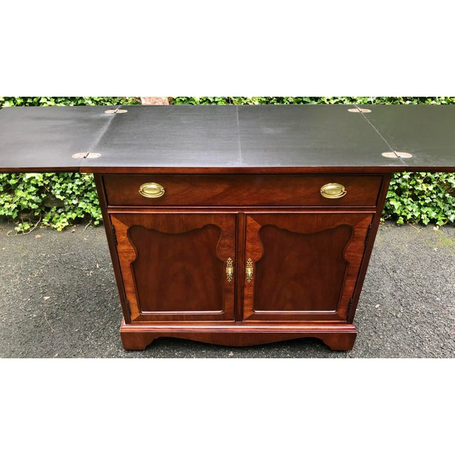 Wood Thomasville Mahogany Collection Flip Top Server For Sale - Image 7 of 13