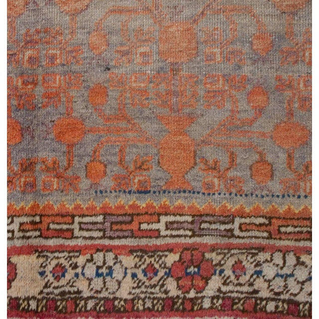 "Early 20th Century Early 20th Century Samarkand Rug - 60"" x 116"" For Sale - Image 5 of 5"