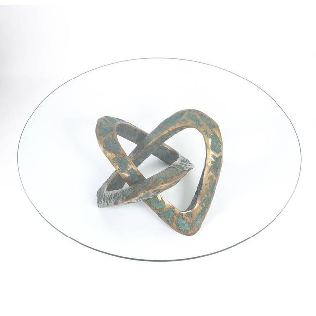 Brass Sculptural Brutalist Mobius Bronze Table, circa 1955 For Sale - Image 7 of 8