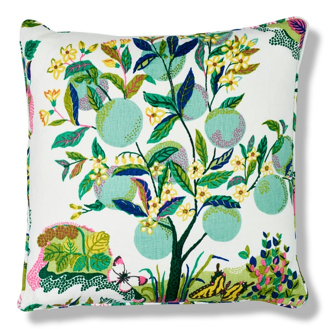 Lime Schumacher Citrus Garden Pillow in Lime For Sale - Image 8 of 8