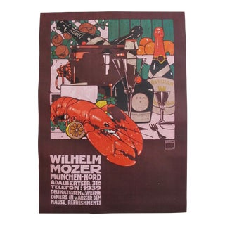 Original and Iconic Ludwig Hohlwein 1909 Art Deco Poster, Wilhelm Mozer For Sale