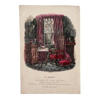"Vintage ""La Mode"" French Print For Sale"