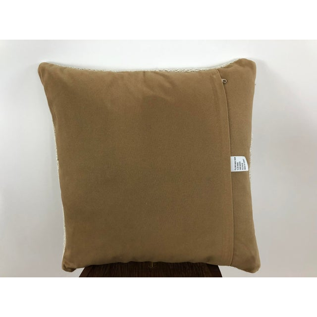 1960s Boho Chic Hemp Pillow For Sale - Image 4 of 8