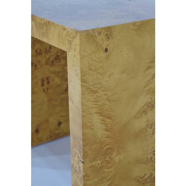 Wood 1970s Milo Baughman Burl Wood Side Table For Sale - Image 7 of 12