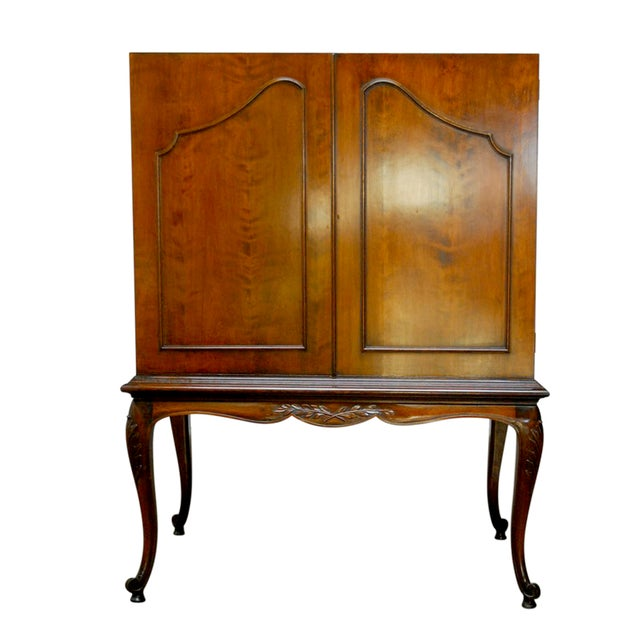 Louis XV Style Carved Walnut Cabinet on Stand - Image 1 of 10