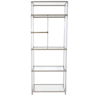 Lucite and Nickel Etagere by Charles Hollis Jones From the Metric Collection For Sale