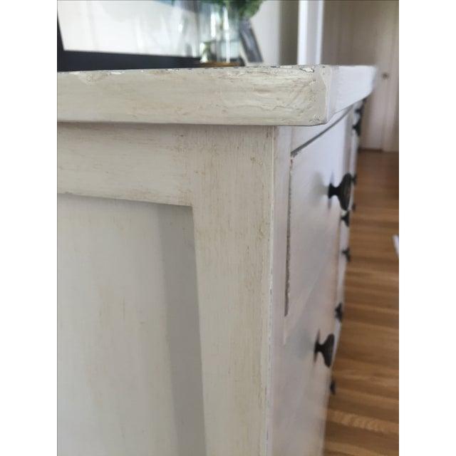 Shabby Chic Light Gray Dresser - Image 6 of 11