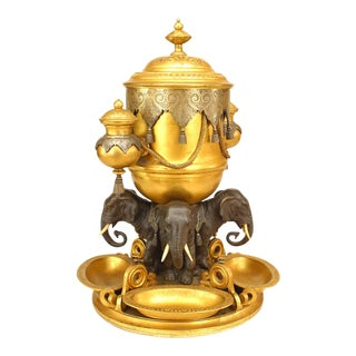 English Regency Style Bronze Centerpiece For Sale