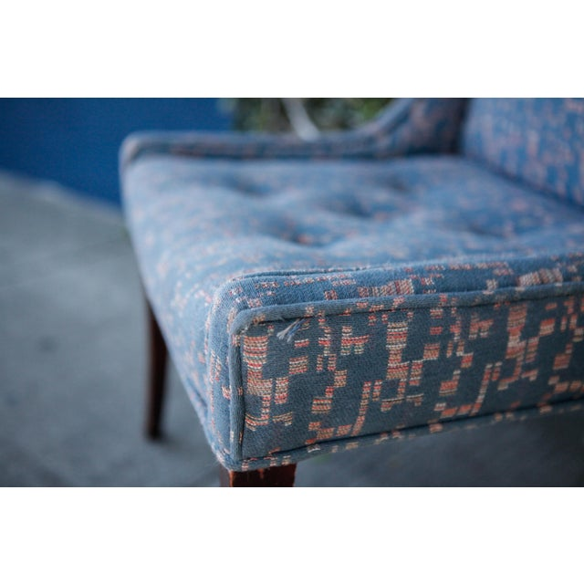 Retro Fabric Side Chairs - A Pair - Image 8 of 9