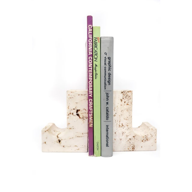 Vintage Travertine Bookends - a Pair For Sale - Image 4 of 5