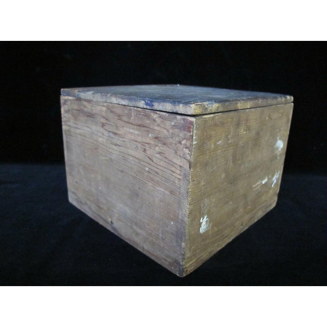 Mid 20th Century Signed Japanese Rustic Pottery Tea Bowl W/Wood Box For Sale - Image 10 of 11