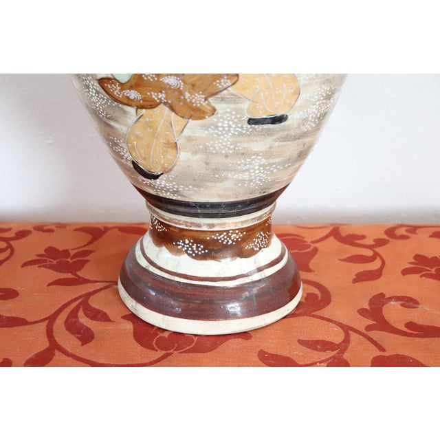 20th Century Japanese Vintage Artistic Satsuma Vase in Decorated Ceramic For Sale - Image 11 of 12