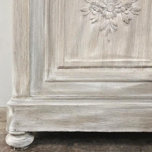 19th Century Country French Louis XVI Whitewashed Buffet For Sale - Image 12 of 13