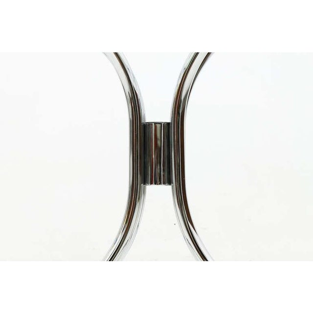Transparent Glass and Steel Tube Dining Table by Giotto Stoppino, Italy 1960`s For Sale - Image 8 of 9
