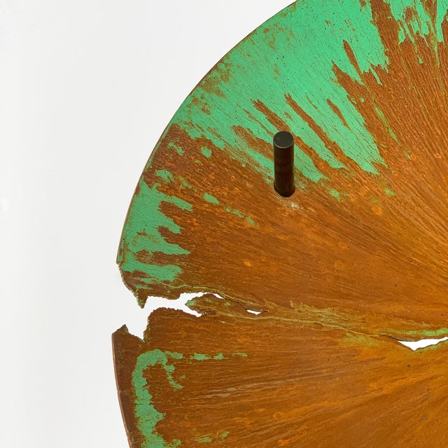"""David Orth Patinated Steel """"Meteorite"""" Coffee Table For Sale - Image 9 of 12"""