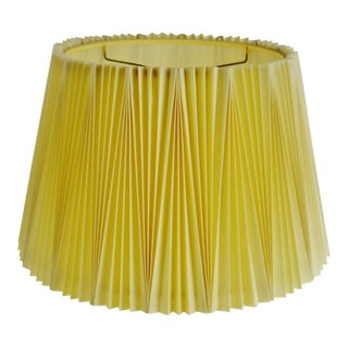 Vintage Pleated Fabric lampshade For Sale