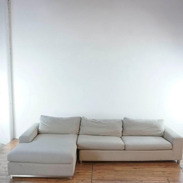 Modern Room & Board Upholstered Sectional Sofa For Sale - Image 3 of 11