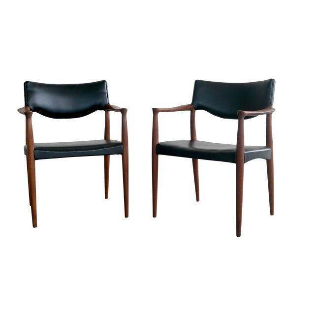 Bender Madsen Mid-Century Teak Chairs - A Pair - Image 1 of 8