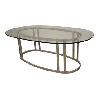 Milo Baughman for Design Institute America Chrome & Glass Coffee Table For Sale