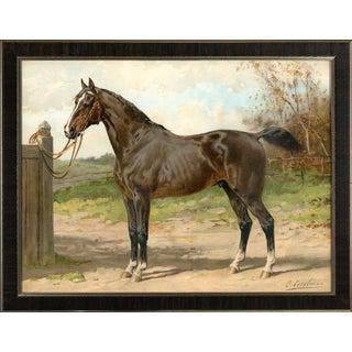Hunter by Eerelman Framed in Italian Wood Vener Moulding For Sale