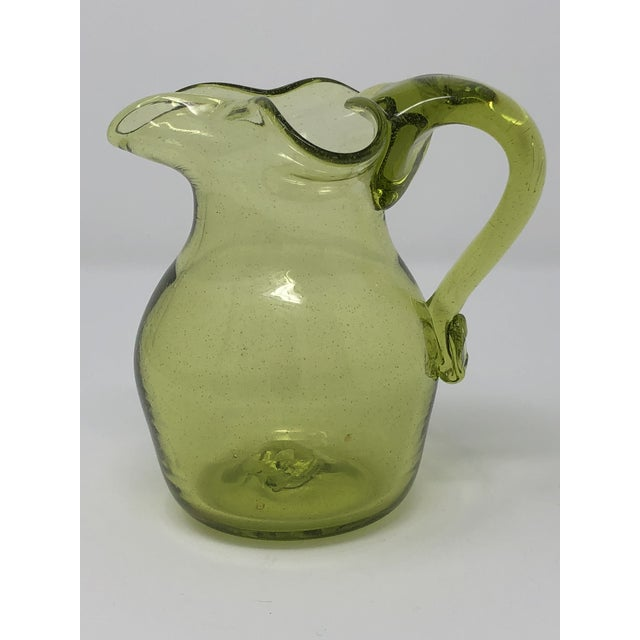 1960s Blenko Hand Blown Glass Small Pitcher For Sale - Image 5 of 5