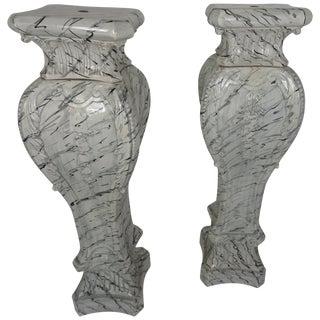 Mid-20th Century Swedish Ceramic Pedestals- A Pair For Sale