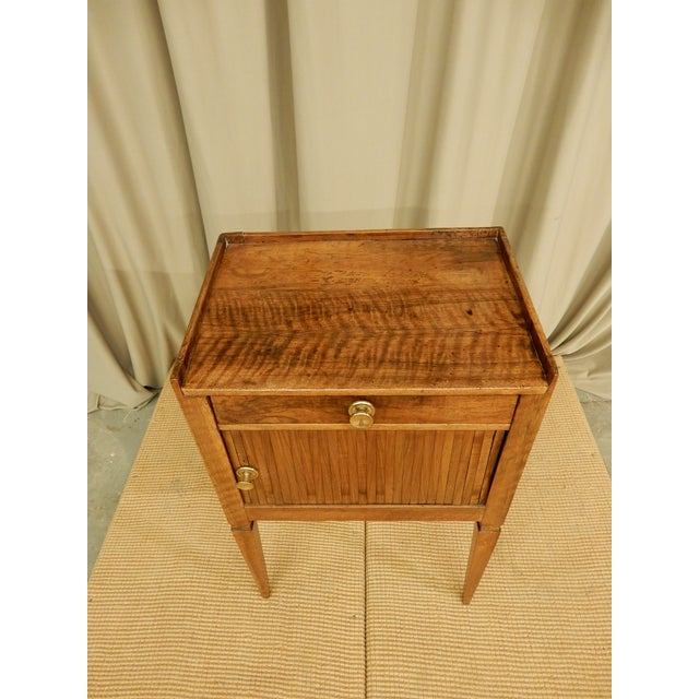 19th C. French Walnut Tambour Front Side Table For Sale In New Orleans - Image 6 of 7
