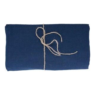 Bleu Minuit Linen Tablecloth 260 x 300 For Sale