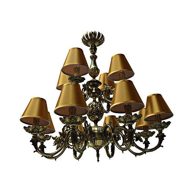 12 Arm Dutch Brass Chandelier - Image 1 of 9