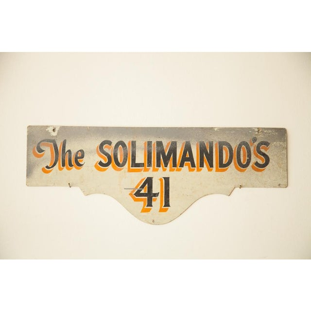 Vintage Deco Double Sided House Sign Solimando's - Image 4 of 7