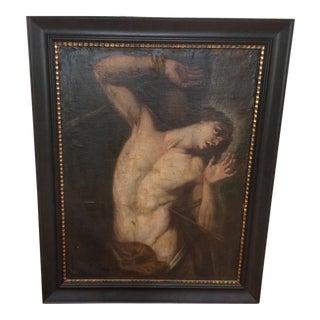 Saint Sebastian Oil Painting Circa 1600 For Sale