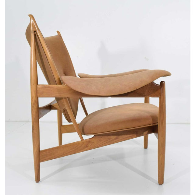 Wood Finn Juhl Chieftain Chair and Ottoman by Baker For Sale - Image 7 of 13