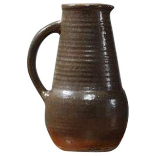 Stoneware Pitcher from the Fontgombault Abbey in France For Sale