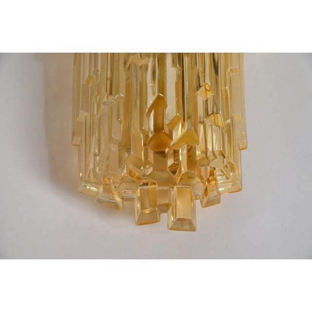 1970s 1970s Chic French Brutalist Glass Sconces - a Pair For Sale - Image 5 of 10